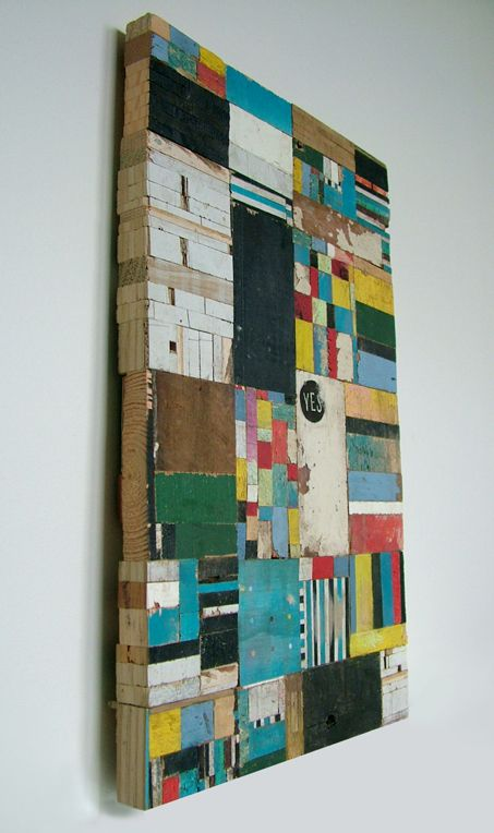 Love the use of materials and building of layers and color in this art.