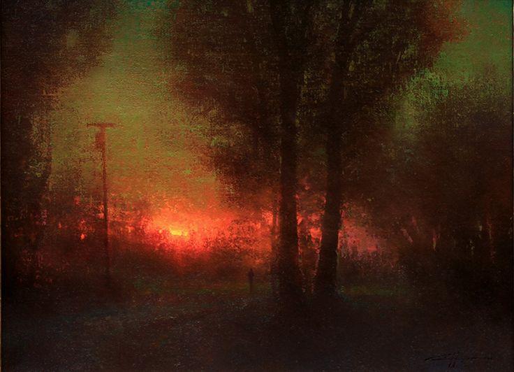 Brent Cotton, Figurative artist, Figure paintings, Landscape paintings, Tonalist painter
