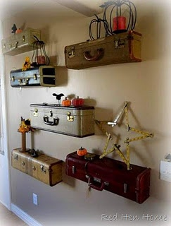 what to do with my luggage... Luggage shelves DIY project