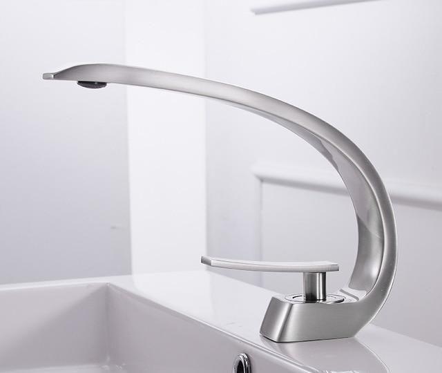 Modern Crane Design Single Handle Basin Faucet Faucet Best
