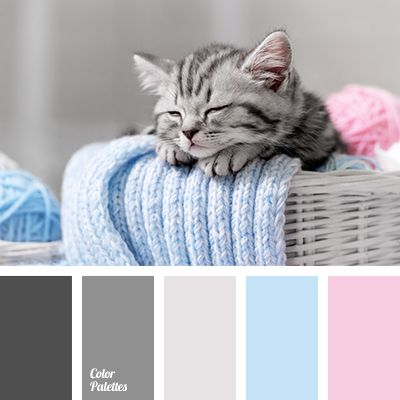 It is a perfect example of combination of colours for bedroom. Also this palette can be used for nurseries, all the more shades of gray are in the trend no.