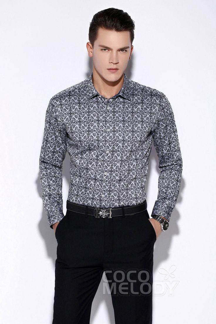 Classic Dress Shirts Mens Formalwear Spread Collar LT001500C #men'swear #men'sfashion #hisfashion #shirts #cocomelody