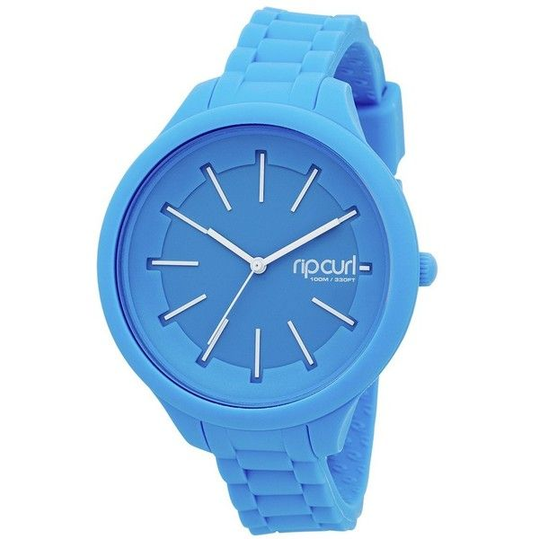Rip Curl Women's 'Horizon' Quartz Plastic and Silicone Sport Watch,... ($95) ❤ liked on Polyvore featuring jewelry, watches, blue jewelry, quartz wrist watch, silicone strap watches, silicone jewelry and plastic jewelry