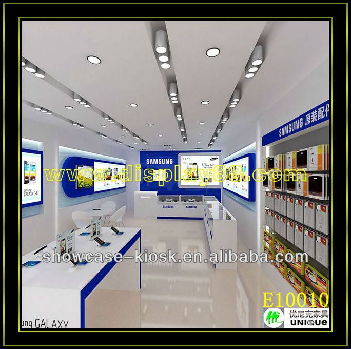Computer shop design and electronic shop design with logo for Agencement de stand