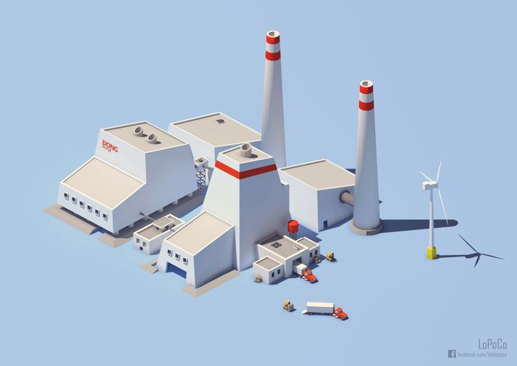 Revisiting Denmark's largest power station, Avedøreværket, in a lower-poly style.