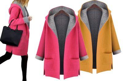 Morbito cappotto da donna con cappuccio, disponibile in 2 colori e 4 taglie