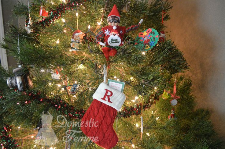 Elf brought a stocking. Find letters from the North Pole here - FREE Elf On The Shelf Calendars, Printables & over 100 Ideas! #Arrival #Christmas #Clothes #Costume #Day #Easy #Elves #Eve #Fast #Food #First #Funny #Girl #Good #Goodbye #Hiding #Hilarious #Holiday #Jesus #Jokes #Kid #Kindness #Lazy #Magic #Minutes #Mischief #Moms #Movie #Moving #Night #Old #Pajamas #Pet #Photos #Pictures #Planner #PJs #Pranks #Quick #Reindeer #Return #Returning #Toddlers #Tradition #Tricks #Video #Xmas #Year…