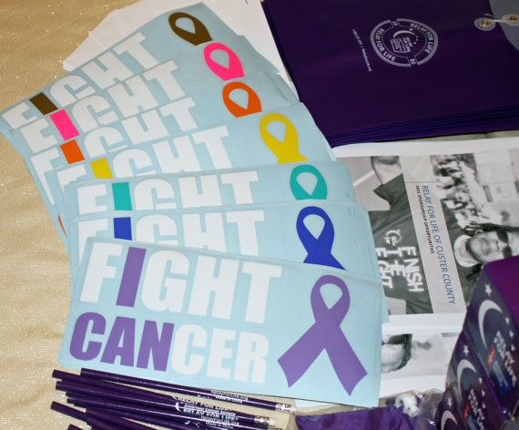 At our house, we bleed purple! Help us reach our Relay For Life fundraising goal by purchasing my decals! Sure, they dont cost much, but my plan is