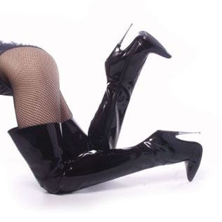 Name: Scream -3010 Thigh High Spike Heel Fetish Boots Price: $101.95