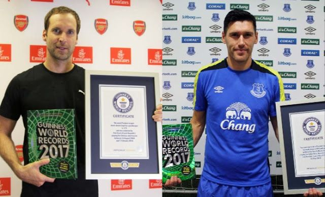 Petr Cech and Gareth Barry Enter 2017 World Guinness Book of Records