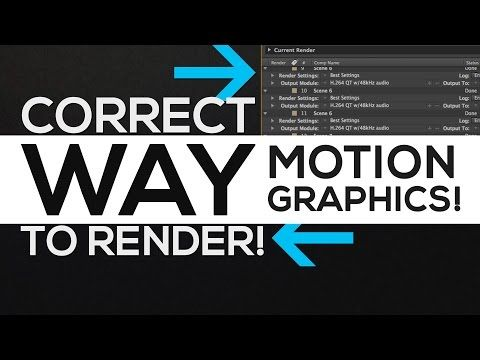 After Effects Tutorial : Render Settings Properly Explained │ Motion Graphics Rendering! - YouTube