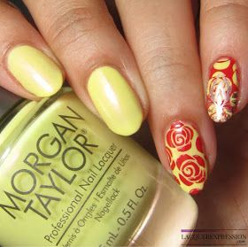 Nail Art - Stamped Designs Inspired by Beauty and the Beast