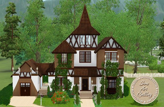Little witch house http://www.sims-artgallery.net/en/gallery/sims-3/lots/residential-lots/small/1713/