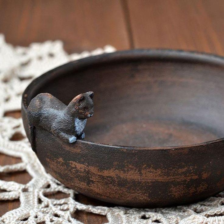 Cat. Ceramics of artist from Siberia Stanislav Simonov  #pottery #sculpture #animals #animalistics #clay #cup #mug #ssimonov #handmademug #handmadecup #керамикаручнаяработа…#керамикатюмень #керамикадлядома  #ручнаяработа #гончарная…