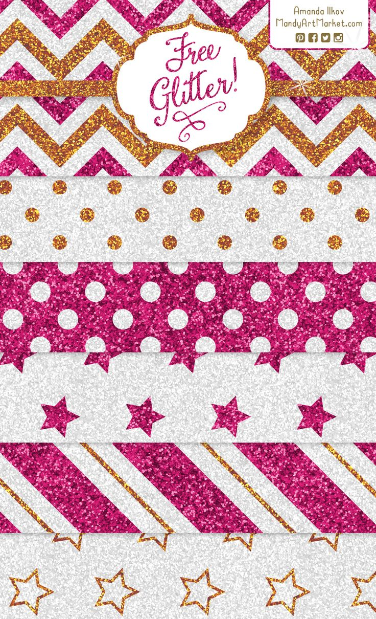 Free, fun glitter papers! High resolution - so cute for card backgrounds. Grab them free at blog.MandyArtMarket.com #freebie #digitalpaper #scrapbook