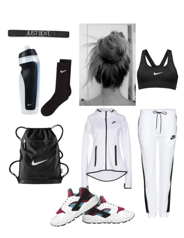 """""""nike gear"""" by afawlessprodigy ❤ liked on Polyvore featuring NIKE"""