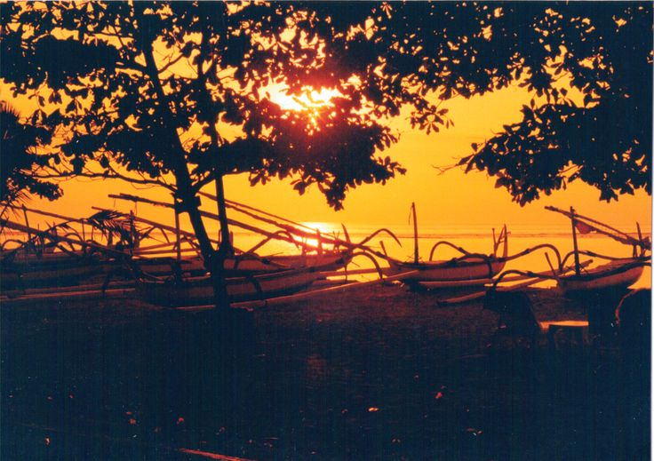 Sanur Beach sunset, Bali
