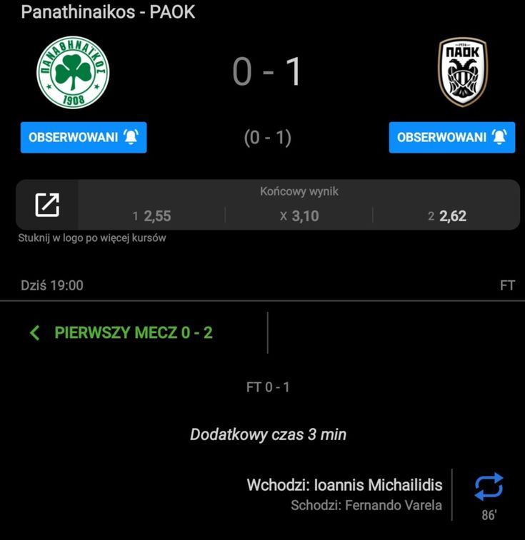 Paok Panathinaikos G Michailidis 1 0 12 02 20 Pandora Screenshot Screenshots Challenges