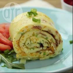 Photo de recette : Omelette roulée au fromage