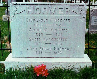 Grave Marker J Edgar Hoover 1st Director Of The Fbi