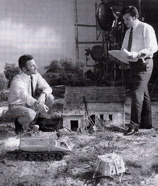 UFO, TV series filming...derek medings on the left of picture was the special effects director ...He then went on to do special effects on many films also the kames bond franchise....