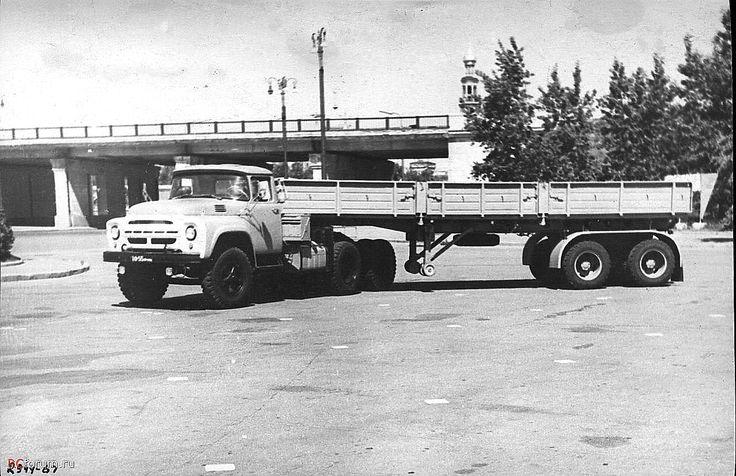 06 опытный образец седельного тягача ЗиЛ-133В с бездисковыми колёсами