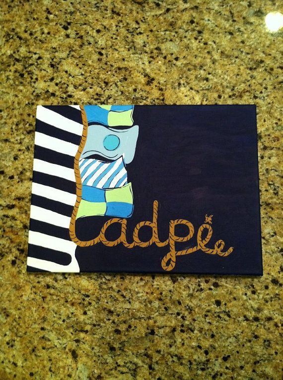 adpi painting: Sorority Canvas, Crafts Ideas, Tried Delta, Lilly Pulitzer, Tried Sigma, Sorority Crafts, Nautical Theme, Cute Canvas, Alpha Delta Pi