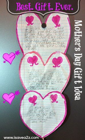 Mothers Day Gift idea for kids!  Cute and frugal too!  #MothersDayGifts #Moms #Gifts http://www.isavea2z.com/mothers-day-craft-ideas-for-kids-and-adults/