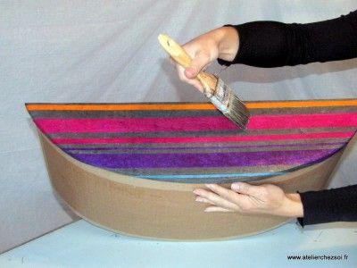 Quel matériel pour décorer un meuble en carton ? - Créer ses meubles en carton