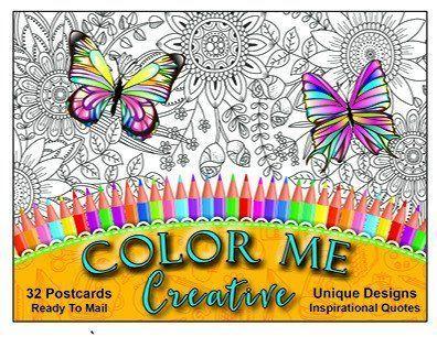 Color Me Creative: Inspirational Postcard Book