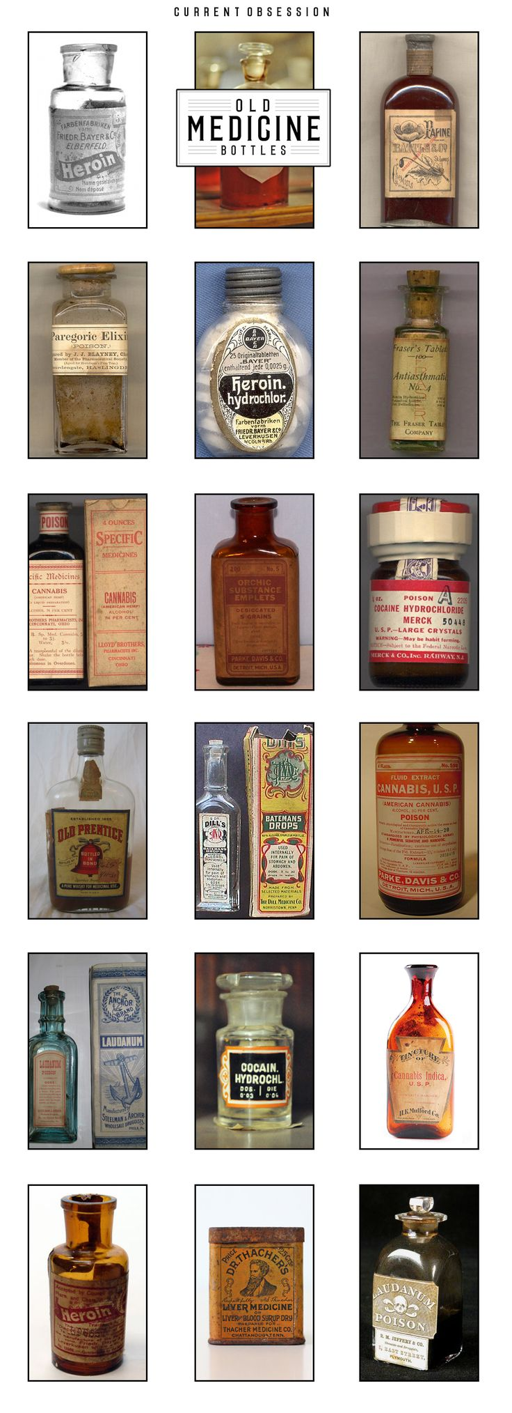 Great collection of vintage medicine bottles.