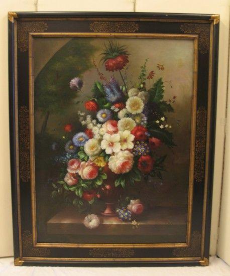 16 best peintures fleurs images on pinterest canvases. Black Bedroom Furniture Sets. Home Design Ideas