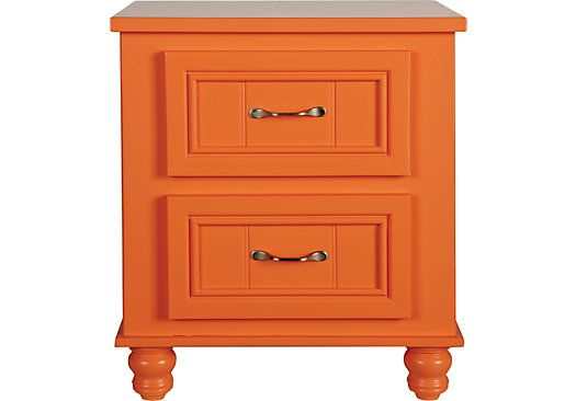 Shop for a Cottage Colors Orange Nightstand at Rooms To Go Kids. Find  that will look great in your home and complement the rest of your furniture.