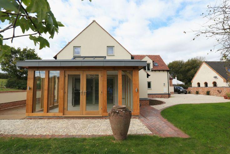 Oak frame extension, wooden frame extension, oak frame building. oak framed extension, wooden framed extension