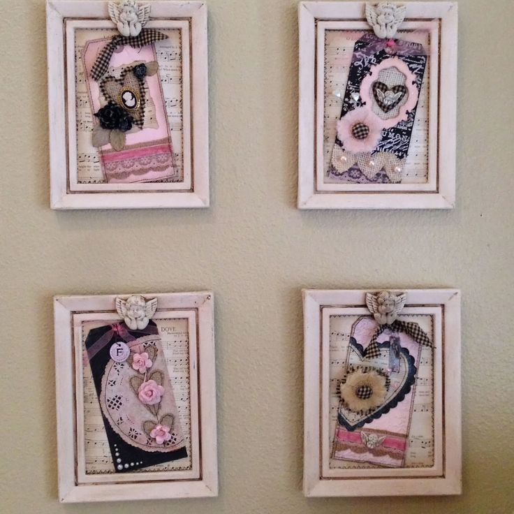 Plays Well With Paper: Vintage Valentine Home Decor - Black, Burlap, and Pink