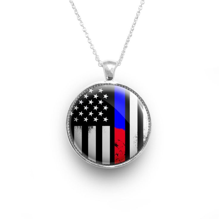 Awesome Thin Blue & Red Line Necklace