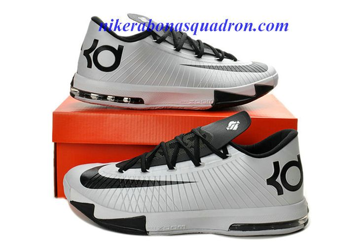 Cheap Nike KD VI 6 Shoes For Sale Low Black White 599424 104 | Kevin Durant  VI | Pinterest | Nike kd vi, Black and Fashion
