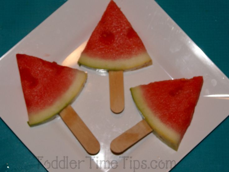 Fruit on a stick For more pictures look on Face Book Fabulous ideas, projects and activities  Toddler Time Tips https://www.facebook.com/toddlertimetips