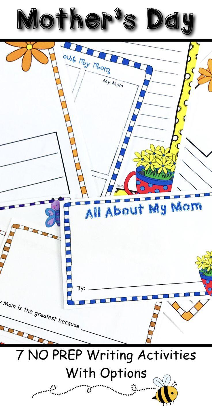 Mother S Day Writing Activities October Activities Pinterest