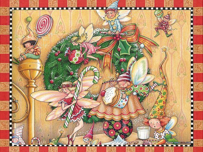 обои Ночь перед Рождеством иллюстрация - Рождественский эльф искусства обои - Рождественский Эльф 30 фото