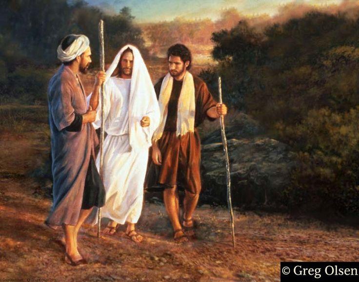 Road to Emmaus http://www.biblegateway.com/passage/?search=Luke+24%3A13-35&version=NIV
