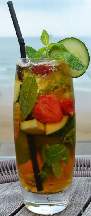 Take one sunny day, one glass stuffed with alcoholic fruit and cucumber and a bit more alcohol with lemonade- it can only be Pimms O Clock!