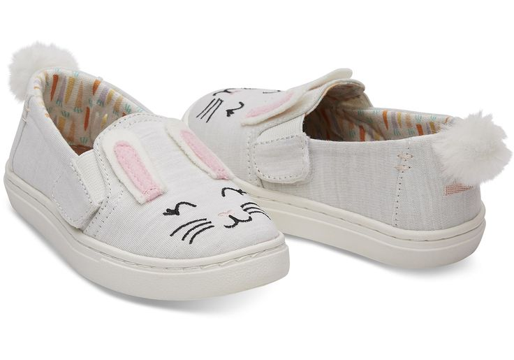 Bunny Face Jersey Tiny TOMS Luca Slip-Ons | TOMS®