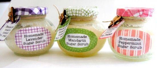 14 recipes for homemade sugar scrubs! So excited!: Essential Oil, Craft, Homemade Sugar Scrubs, Gift Ideas, Christmas Gift, Shower Gift, Homemade Gift