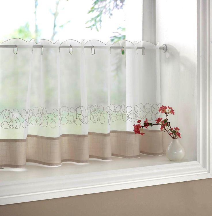 Good Artwork Of Half Window Curtains Ideas