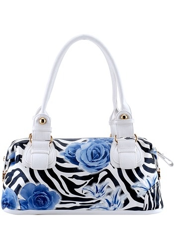 zebra color with blue roses it reminds me of the episode of the smurfs when smurfet wished for a blue rose.