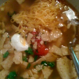 Chicken Tortilla Soup   This is a second-time meal.  I made from El Pollo Loco leftovers.   homecookingmommy.wordpress.com