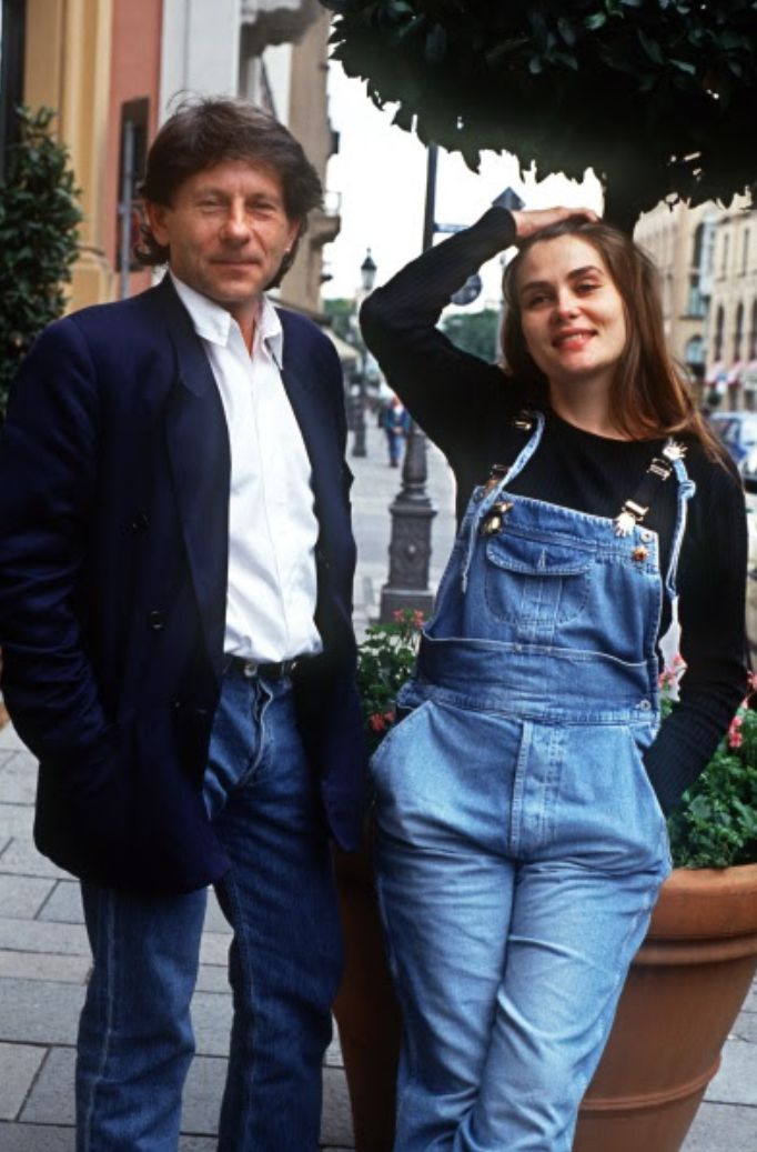 Roman Polanski & Emmanuelle Seigner promoting their movie Bitter Moon, Munich 1992.