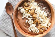 Chocolade Smoothie Bowl met Kokosmelk - Blij Suikervrij