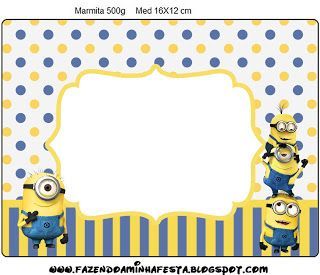 Inspired in Minions: Free Printable Labels.